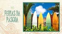 Álbum de fotos para as Férias da Páscoa (design de praia, ecrã panorâmico)