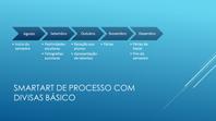 Diapositivo de linhas de tempo (divisas horizontais em azul, ecrã panorâmico)