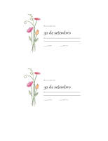 Cartões de resposta (design em Aguarela)