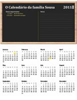 Calendário familiar (qualquer ano, seg-dom)