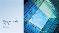 Apresentação de marketing com cubo de vidro (ecrã panorâmico)