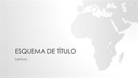 Conjunto Mapas do mundo, apresentação com continente africano (ecrã panorâmico)