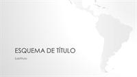 Conjunto Mapas do mundo, apresentação com continente sul-americano (ecrã-panorâmico)