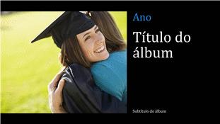 Álbum de fotos de formação, preto (ecrã panorâmico)