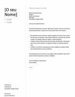 Carta de apresentação para Currículo Cronológico (Estrutura Simples)