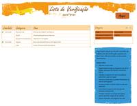 Lista de verificação de itens de férias
