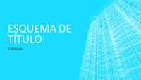 Apresentação com a estrutura metálica de um edifício (ecrã panorâmico)