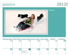 Calendário familiar com fotografias (Seg)