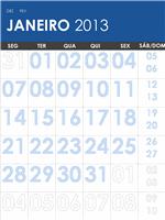 Calendário 2013-2014, multicor (S-Dom)
