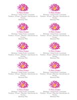 Cartões de Visita Pessoais Com Uma Flor