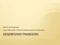 Apresentação do desempenho financeiro