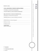 Página de rosto de fax (desenho Mirante)