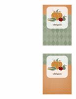 Cartão de agradecimentos (desenho de colheitas)