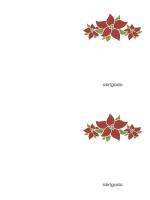 Cartão de agradecimento (desenho com flores de Natal)