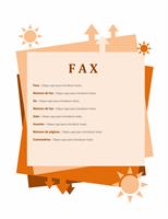 Folha de rosto de fax