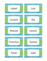 Cartões com nomes ou locais (desenho com nuvens, 10 pág.)
