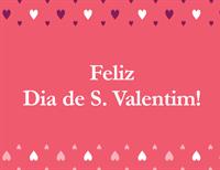 Cartão do Dia de São Valentim (dobra em quatro)