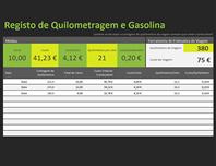 Registo de quilometragem de combustível