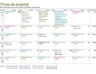 Linha cronológica de planeamento de projetos