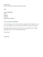 Carta de apresentação de candidatura a estágio