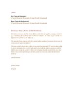 Carta empresarial formal