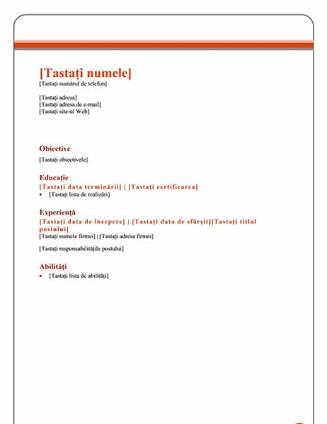 CV (proiectare Echilibru)