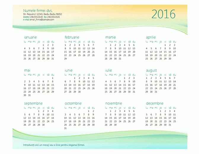Calendar pentru firme mici (orice an)