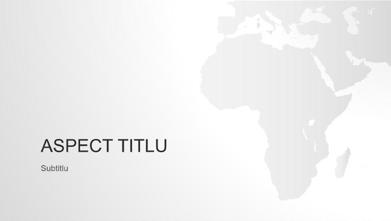 Seria Hărțile lumii, prezentarea continentului african (ecran lat)