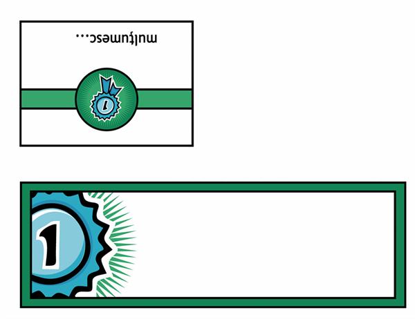 Carte poștală de mulțumire (model cu panglică pentru locul 1)