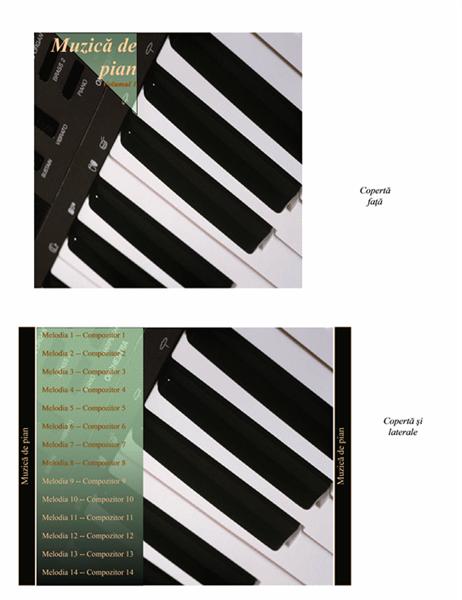 Inserție carcasă CD (grafică muzică de pian)