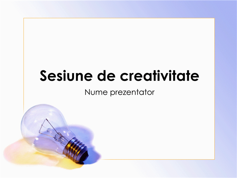 Prezentarea ședinței de brainstorming