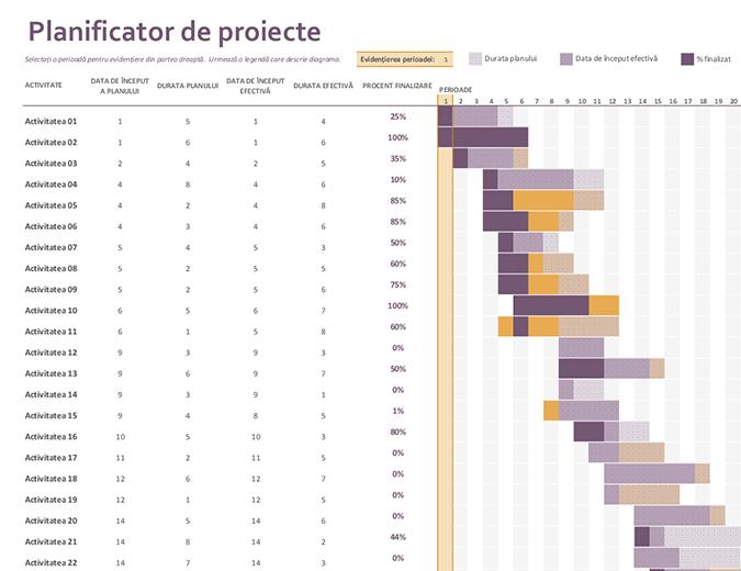 Planificator de proiecte Gantt