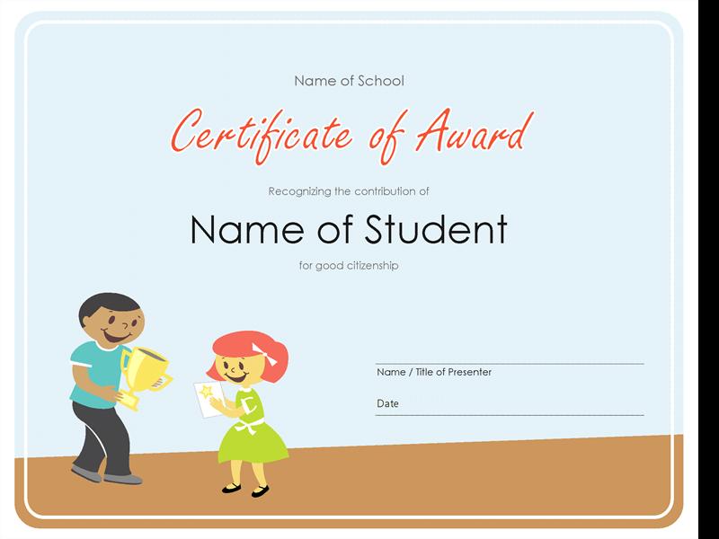 Diplomă (elevi de școală primară)