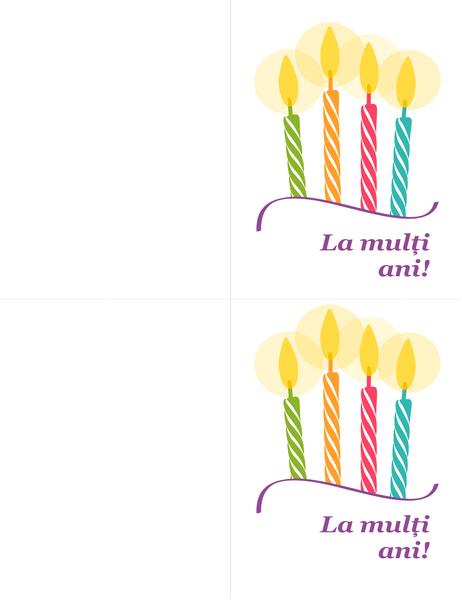 Felicitări pentru zile de naștere (2 pe pagină)
