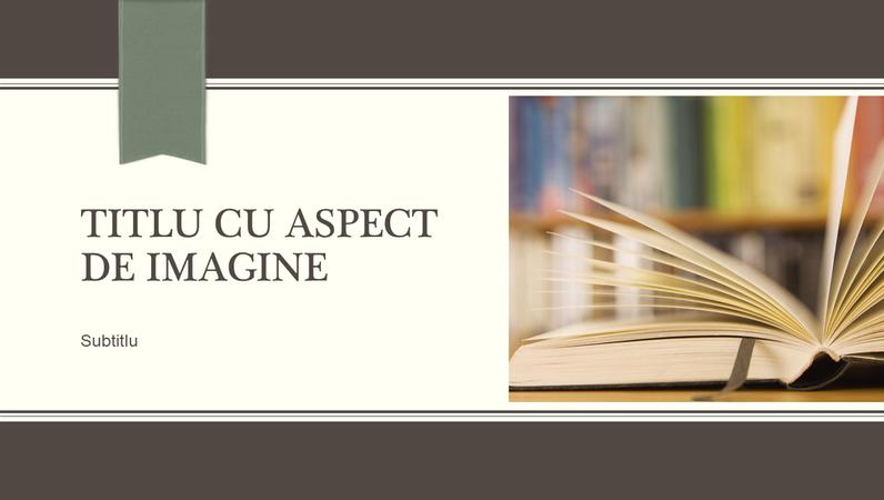 Prezentare academică, proiectare cu linie decorativă și panglică (ecran lat)