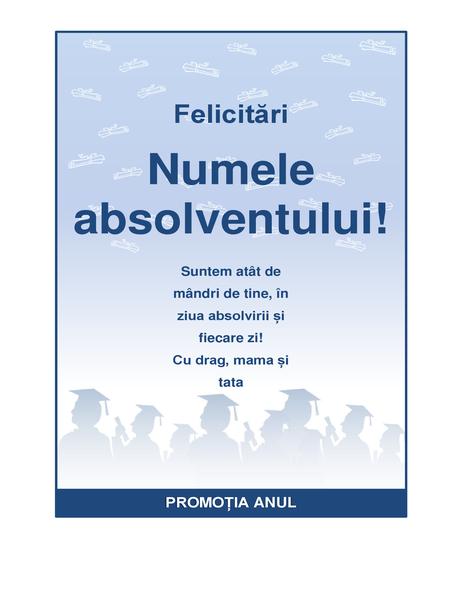 Fluturaș de felicitare absolvent (proiectare Petrecere de absolvire)