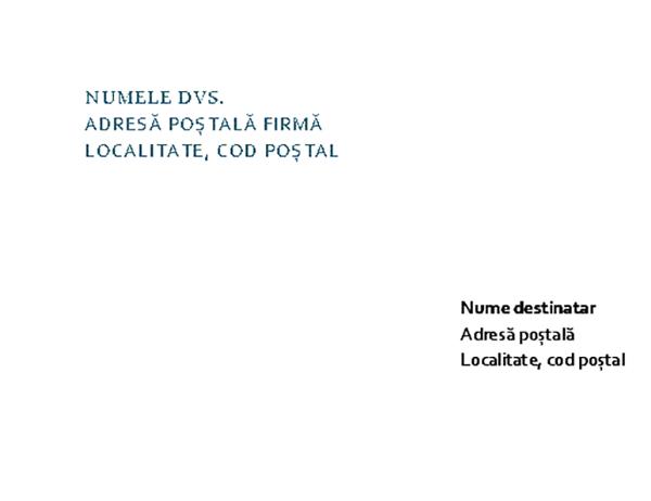 Antet de scrisoare și plic