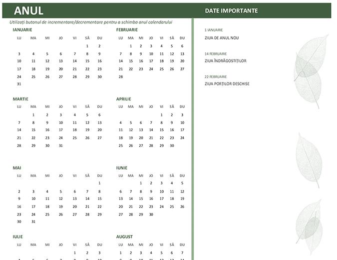Calendar pentru firme (orice an, dum-sâm)