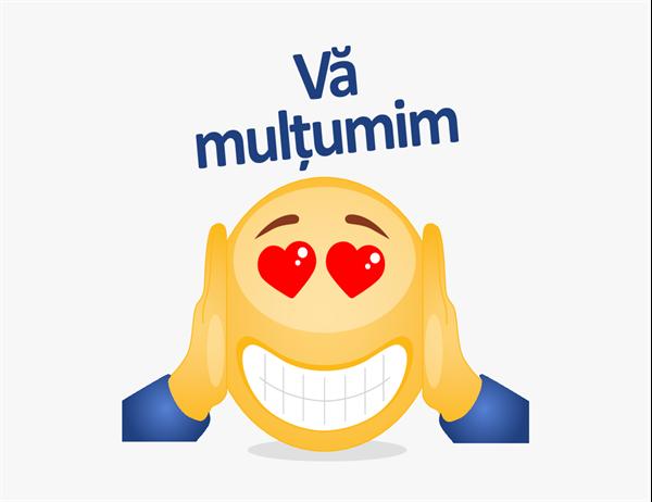Carte poștală de mulțumire cu emoji