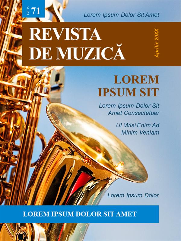 Copertă revistă de muzică
