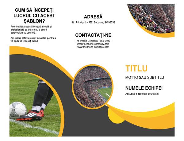 Broșură Sport