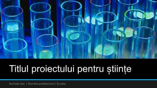 Prezentare proiect pentru științe (ecran lat)