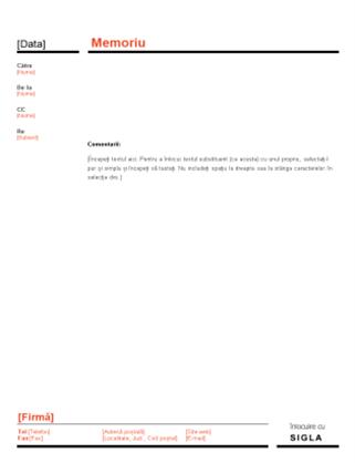 Memoriu de afaceri (proiect roșu și negru)
