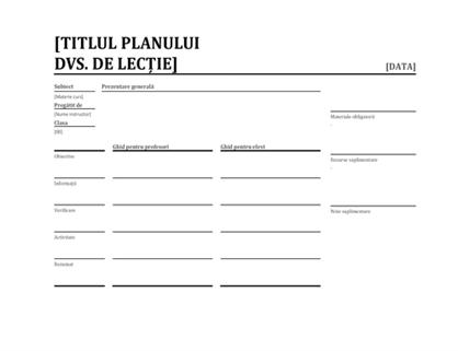 Planificator de lecții zilnice