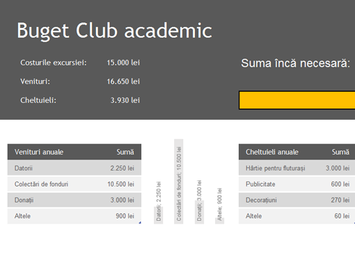 Buget Club academic