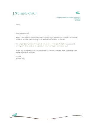 Antet scrisoare personal