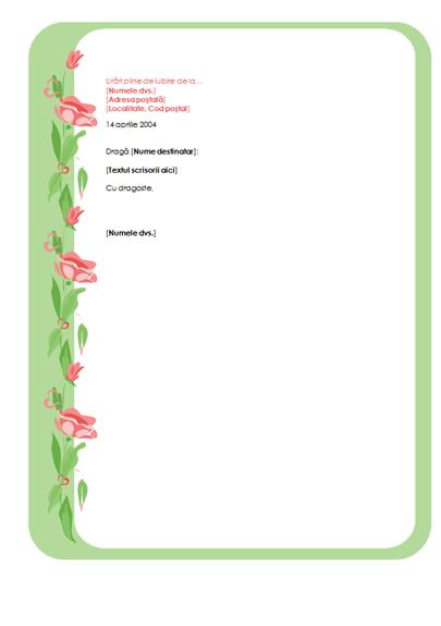 Foaie de scris pentru scrisoare de Sf. Valentin