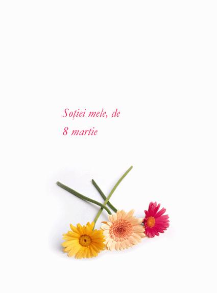 Felicitare de 8 martie (pentru soție)