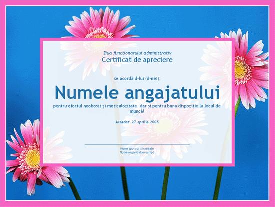 Certificat pentru funcționari administrativi (fotografie de fundal)