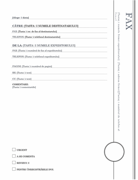 Fax (tema Foișor)